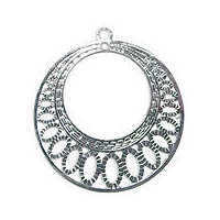 Large Circle Filigree Chandelier Earring Charm