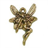 Antique Gold Plated Butterfly Fairy Charm