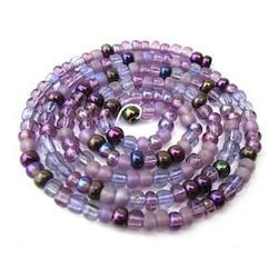 Czech Glass Seed Beads - Size 6/0 - 1 Hank x Lilac