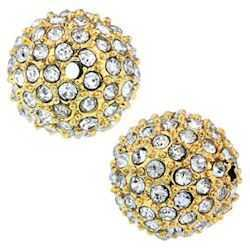 Beadelle Pave Bead - Round - Gold Crystal x 12mm