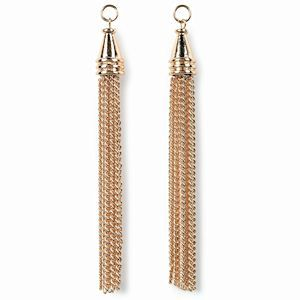 Dangle Charms - Styled By Tori Spelling - Gold Chain Tassels x 90mm