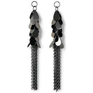 Dangle Charms - Styled By Tori Spelling - Hematite Teardrop Chains x 110mm