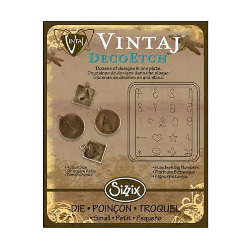 Sizzix ~ Vintaj Deco Etch Die - Handwriting Numbers