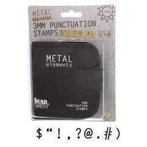 Punctuation Metal Punch Set with Storage Pouch x 3mm