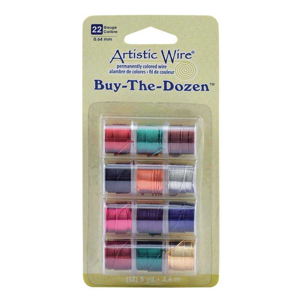 Artistic Wire - Permantley Coloured 22Ga - Pack Of 12 Assorted Colours