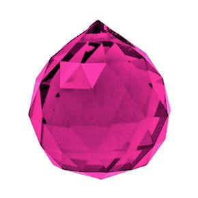 Crystal Sphere - Fuchsia x 30mm