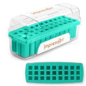 Impressart Letter Stamp Storage Case - 6mm, Teal