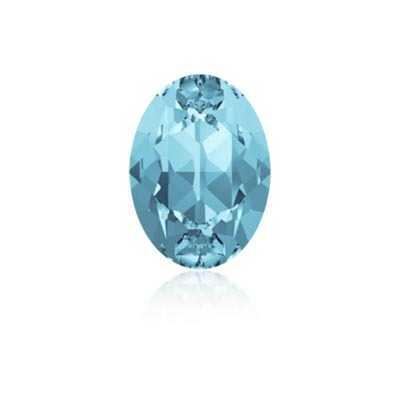 Swarovski Crystal Fancy Oval Stone - Aquamarine 18mm x 13mm