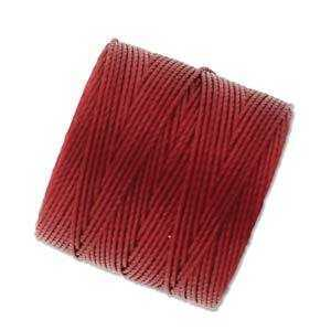 Beadsmith S-Lon Nylon Beading Cord Tex210 - Red Hot x 77 Yards
