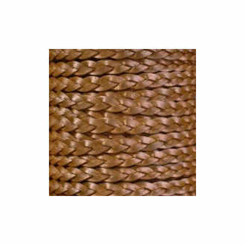 Braided Leather Cord - Light Brown 2mm x 2 Metre Pack