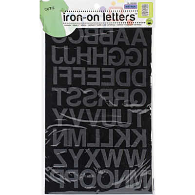 Iron-On Letter Transfers - White Block x 25mm