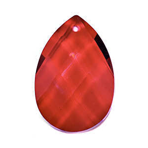 Crystal Drop Pear Shaped - Red x 38mm *Seconds*