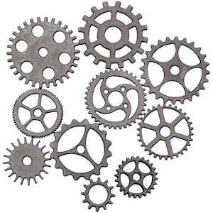 Steampunk Sprockets and Gears By Tim Holtz Assemblage
