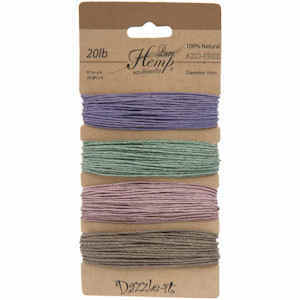 Natural Hemp Cord - Vintage Colours 1mm