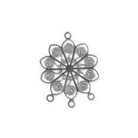 Flower Filigree Craft Charm