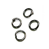 Gunmetal Black Jump Rings - 4mm x 100