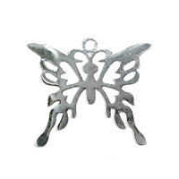 Long Tail Butterfly Filigree Craft Charm