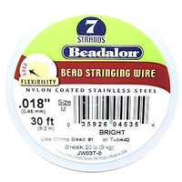 Beadalon Nylon Coated Stainless Steel Stringing Wire - (.018/.46) x 1 Roll