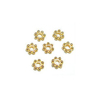 Daisy Spacer Beads - Gold 5mm x 50