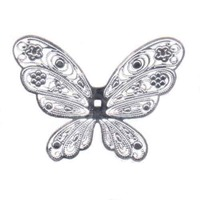 Elegant Butterfly Filigree Craft Charm