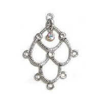 Curtain Chandelier Earring Component - Crystal Ab x 35mm