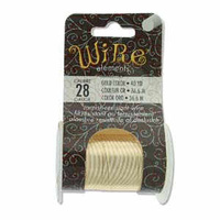 Beadsmith Craft Wire - Tarnish Resistant Gold x 28ga
