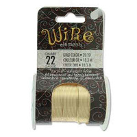 Beadsmith Craft Wire - Tarnish Resistant Gold x 22ga