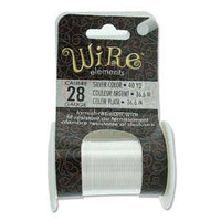 Beadsmith Craft Wire - Tarnish Resistant Silver x 28ga