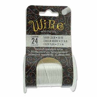 Beadsmith Craft Wire - Tarnish Resistant Silver x 24ga