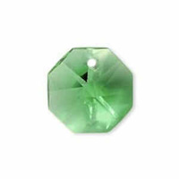 Crystal Octagon - Apple Green x 14mm *Seconds*