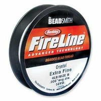 "Fireline Braided Bead Thread - 0.005"" Diameter 4Lb Crystal Clear"