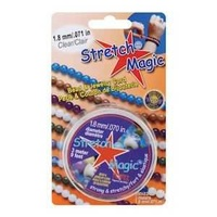"Stretch Magic Jewellery Cord - Clear - 1.8mm / 0.071"" x 3 metre roll"