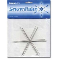 "Snowflake Ornament Wire Form - 3.75"" Wide x 8 Pieces"