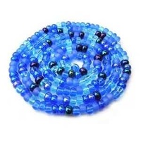 Czech Glass Seed Beads - Size 11/0 - 1 Hank x Blue Tones