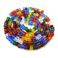 Czech Glass Seed Beads - Size 8/0 - 1 Hank x Rainbow