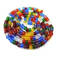 Czech Glass Seed Beads - Size 6/0 - 1 Hank x Rainbow