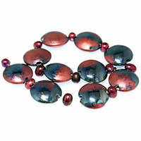 Handmade Lampwork Beads by Ian Williams x Tawny Port