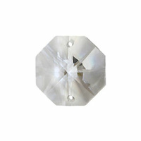 Crystal Octagon - Preciosa Clear Double Hole Traditional Cut x 14mm *Seconds*