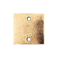 Metal Stamping Blank - Patera Flat Tag - Mini Square Double Hole - Antique Gold x 12.5mm