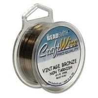 Craft Wire - Beadsmith Pro Quality Non Tarnish - Vintage Bronze x 26Ga
