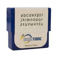 Alphabet Letter Metal Punch Stamp Set - Aras Lower Case x 2mm