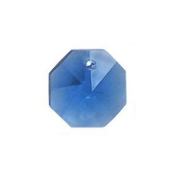 Crystal Octagon - Sapphire x 14mm *Factory Seconds*
