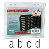 Alphabet Letter Metal Punch Stamp Set With Storage Pouch - Gothic Lower Case x 3mm