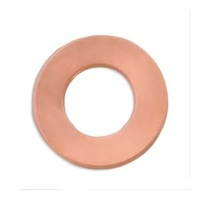 Metal Stamping Blank - 24ga Copper Washer Small x 19mm