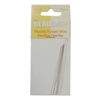 Flexible Twisted Wire Beading Needles Collapsible Eye - Medium x 10