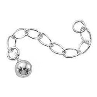 "Extender Chain - Sterling Silver - 1.5"" With 5mm Ball"