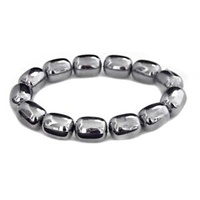 Silver Allure Barrel Vintage Lucite Bead x 15mm