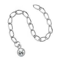 "Extender Chain - Silver Filled - 3"" With 5mm Ball"