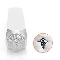 Impressart Signature Metal Design Stamp ~ Medical Symbol x 6mm