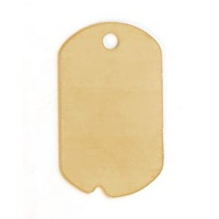 Metal Stamping Blank 24ga Brass Dog Tag With Hole Factory Seconds